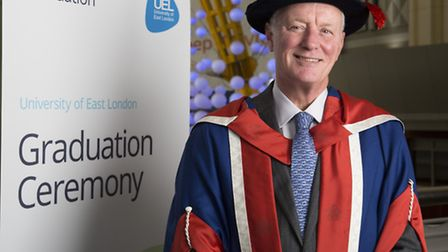 Former Leyton Orient chairman Barry Hearn received a doctorate from the University of East London. P