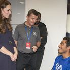 Sheikh Sheikh met the Duchess of Cambridge during a SportsAid workshop at the GSK Human Performance