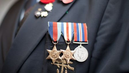 Richard Blyth's medals show his service during the Seoncd World War