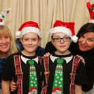 Best mates Keane Richardson and Joe Quirk, 11, are running a Santathon (marathon dressed as Santa) f