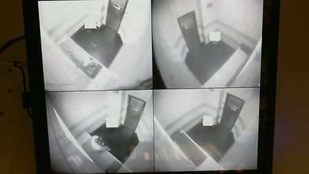 CCTV monitors the alleged offenders in their cells