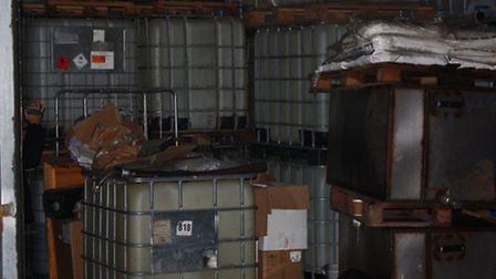 An image from inside the suspected diesel plant in Upminster