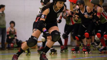 Roller derby is a fast and furious team sport