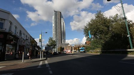 The towers in Ilford and Ilford Lane.