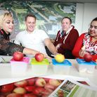 An apple tasting session for the new orchard at the Olympic Park