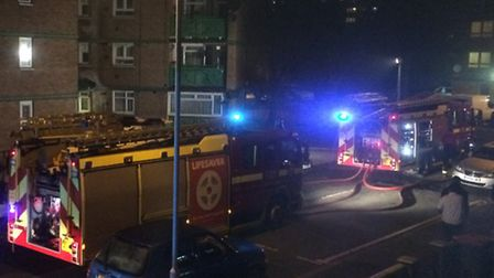 Four fire engines have been called to the scene