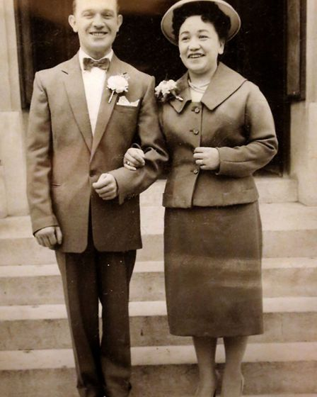 A picture of Denise Groves' mother Patricia who was in the Women's Royal Air Force and her father Ja