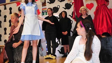 """Youngsters from St Mary's school, Pakefield in rehearsals for school production""""Alice in Wonderland"""