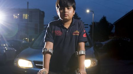 9-year-old Ronit got a broken leg after he was hit by a car outside his school. His mum is calling f