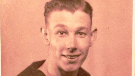 Johnny Dale as a young man in his uniform