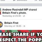 The post that Romford MP Andrew Rosindell shared