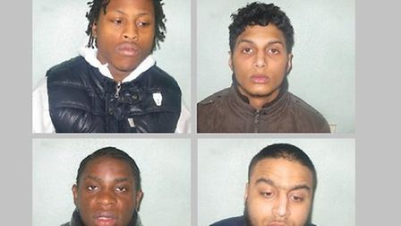 Clockwise from top left: Hylton, Kamali, Naiim and Malungo were convicted yesterday