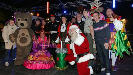 Countdown for the christmas light switch on