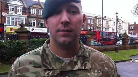 Col Sgt Scott Farrar led the army cadets in the Remembrance Day parade in East Ham