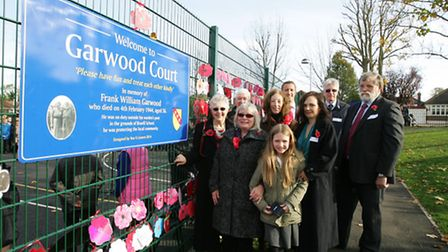 Branfil Primary School in Upminster, hosting an event to remember air raid warden Frank Garwood. Th