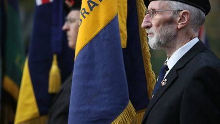 Remembrance Sunday service at Ilford War Memorial in Newbury Park