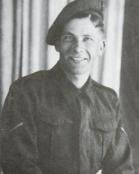 D-Day veteran John Jeffrey in his soldier days