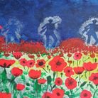 The painting produced by Broadford Primary School pupils to commemorate the centenary of the First W