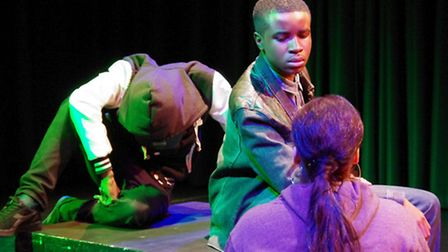 Uchenna Ozurumbu is pcitured during rehearsals of The Tempest