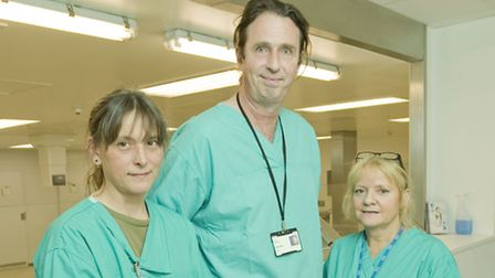 Morutary workers (L-R) Maria Knight, Gary Bennett and Jan Gibson (photo: Arnaud Stephenson)
