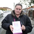 Kerry Ferguson collected signatures for a get well soon card for the boy