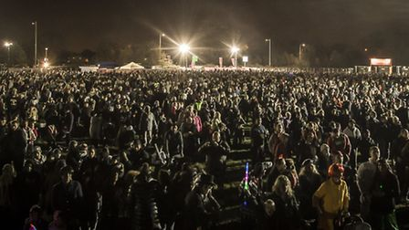 25,000 people turned out to see the fireworks. Pictures: Andrew Baker and Paul Boylin