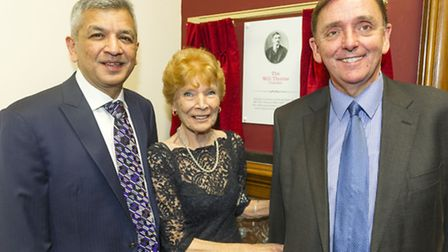 GMB 125th Anniversary - Cllr Desai with GMB President Mary Turner and Mayor Sir Robin Wales