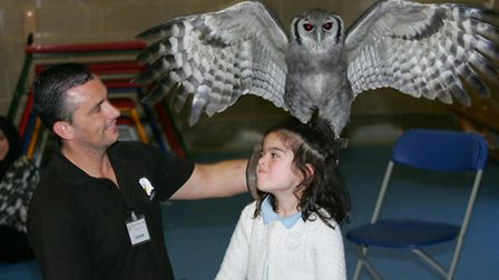 Jason Ashcroft and Aaliyah Khan with a South African Owl