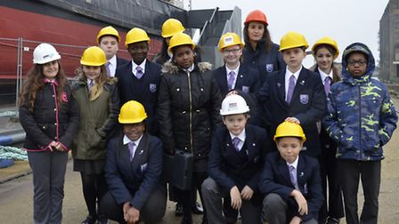 """Students from Oasis Academy in Silvertown """"took over"""" SS Robin for the day"""