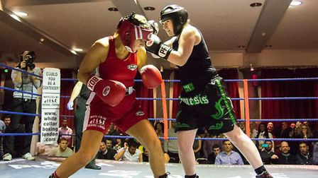 Helen Keating in the ring
