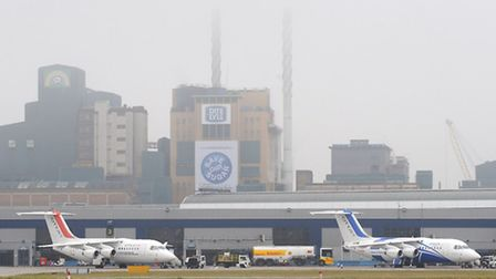 Planes on the ground at London City Airport (from archive). Photo: PA Wire/Nick Ansell