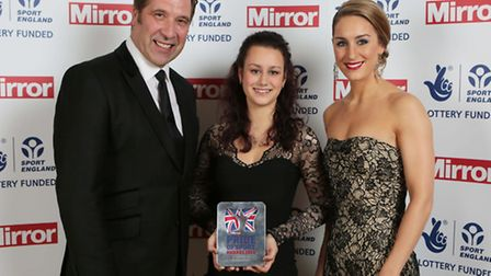Mirror Pride of Sports Sports Awards 2014 at Grosvenor House Hotel in London. Volunteer of the Year