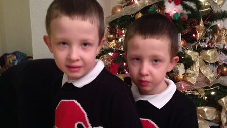 Six-year-old twins Alfie and Louie