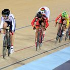 Laura Trott on her way to victory the Women's Omnium. (Pic: PA Wire/Press Association Images)