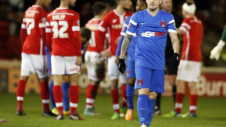 Dean Cox during Saturday's 2-0 defeat at Barnsley. Pic: Simon O'Connor.
