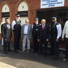 PC Shaz Meah (second from right) seen here with Borough commander Sue Williams and Dr Mohammed Fahim