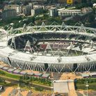 Aerial view of the Queen Elizabeth Olympic Park in Stratford.