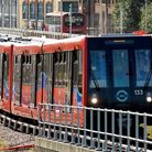 The Docklands Light Railway in Beckton. Picture: PA Wire/John Stillwell