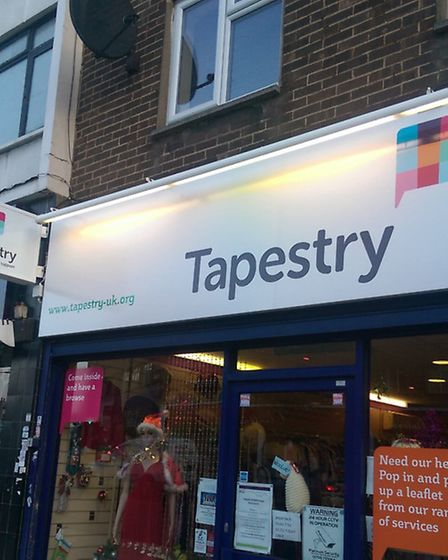 The new Tapestry shop in Hornchurch High Street
