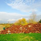 50 tonne fly-tip in Bonnetts Wood, Upminster. Picture: Clare Rowley