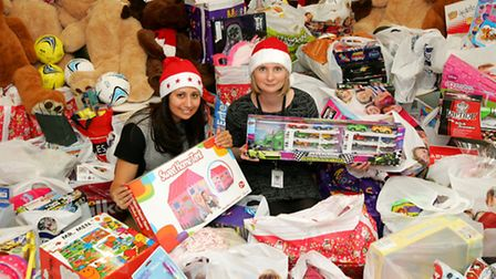 Network Rail in Stratford, handing over of very large toy collection to Community Links, charity. O