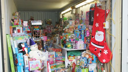 Some of the toys donated to the toy appeal