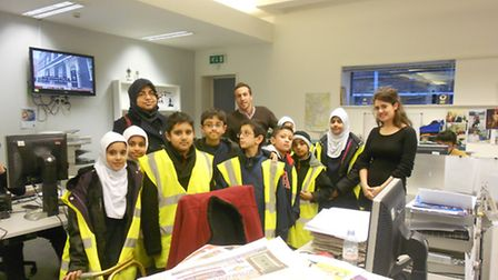 Al-Noor Primary School pupils at the Recorder's offices