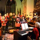 Well known carols were interspersed with modern music on the theme of the nativity, poems and readin