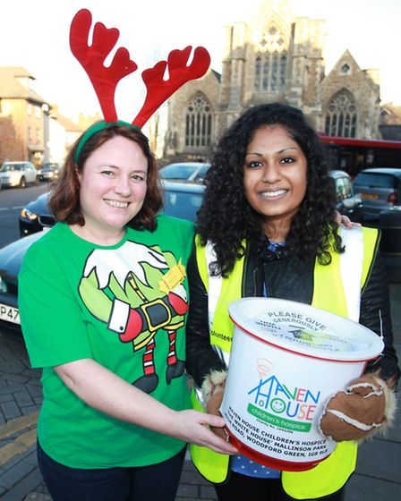 Haven House Children's Hospice volunteers at their festive fayre