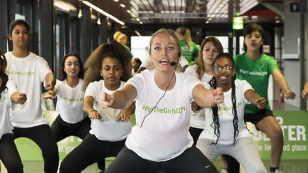 Josie Gibson launched a new national fitness campaign at the Copper Box Arena entitled 'For the Girl