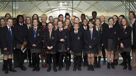 Emerson Park Academy pupils at the Royal Opera House