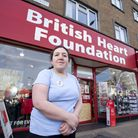 Manager Jo Mills outside the Heart foundation charity shop where she works, which was broken into on