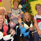 Gymophbics ladies donate bras for hospice. Picture: Saint Francis Hospice