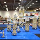 A variety of replicas of Tower Bridge are displayed at the Brick 2014 Lego convention in ExCeL Londo